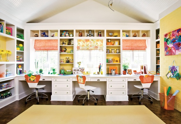 The creative craft room at 3639 Tuxedo Road...Arthur Blank's home that was recently sold in Buckhead.