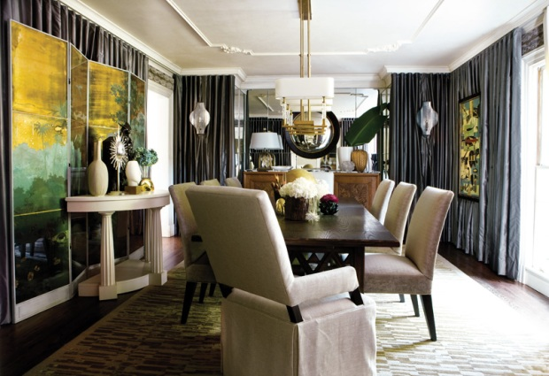 A memorable dining room at 3639 Tuxedo Road, a home recently sold in Buckhead for under $4M.