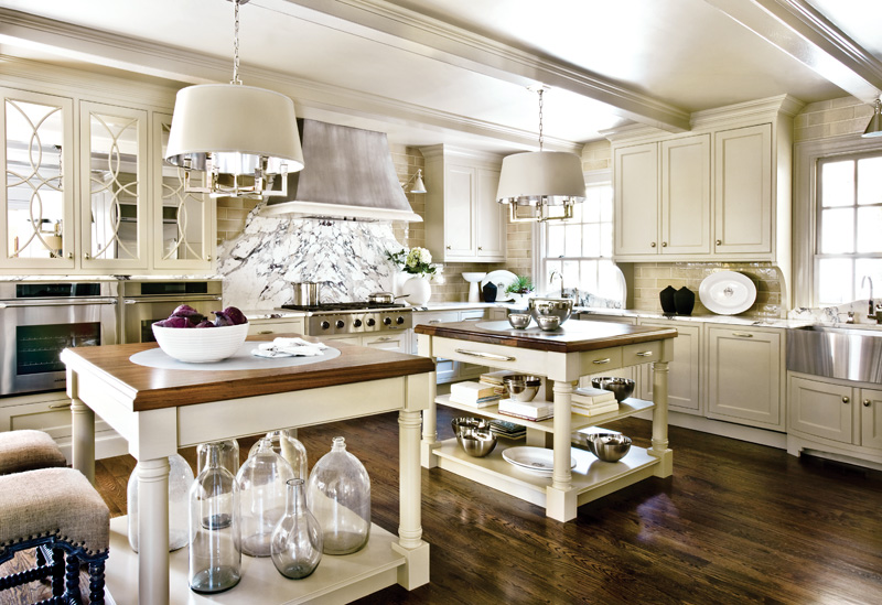 The updated kitchen featured at the 2010 Decorator's Showhouse at 3639 Tuxedo Road in Buckhead.