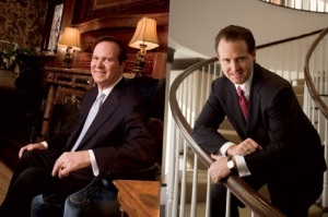 "The new family in Buckhead is the Hill Family. Pictured here are the father, Al Hill Jr., left, a grandson of billionaire H. L. Hunt, and his son (current Atlanta resident), Al III, right, known in Dallas as ""Al Three."" Photographs by Danny Turner."