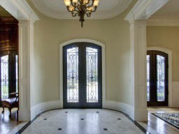 A dramatic, elegant entry is found at 4235 Regency Court in Buckhead.