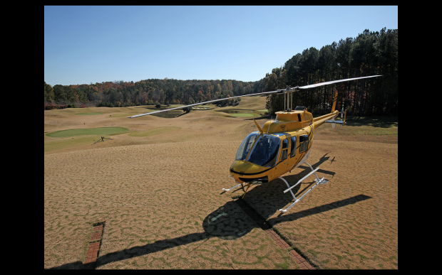 A personal helipad makes commuting to the Hartsfield-Jackson International Airport a breeze.