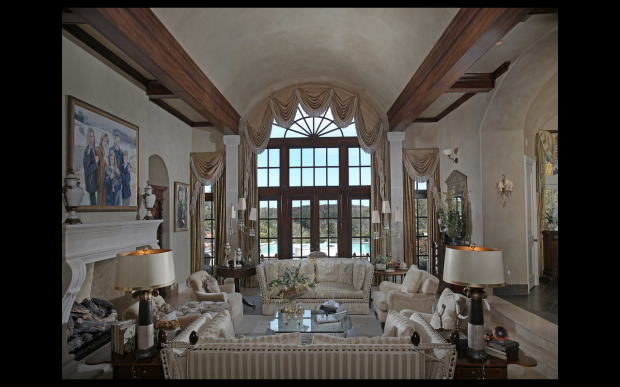 A formal living room invites one and all into this countryside estate at 811 Hawks Nest Court.  Listed for sale by Tina Hunsicker of Atlanta Fine Homes Sotheby's International Realty. Offered at $9.8 million.  Click on the image for more photos of this property.