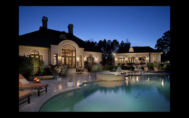 The pool is the perfect setting for an evening soiree....or the most fabulous birthday party imaginable.