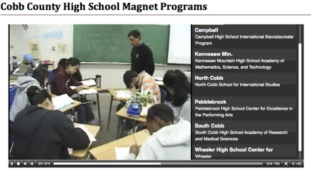 Click on the image to see a video about the Campbell High School IB program in Cobb County, Georgia.