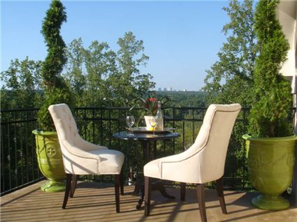 View of the Atlanta skyline in this Chastain Park home where I represented the buyers in their purchase.