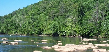 The Chattahoochee River National Recreation area has an access point in Vinings at Paces Mill.  Photo from VisitSandySprings.org