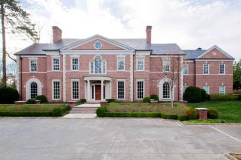 This estate in Buckhead was designed by Bill Baker and custom built on a +/- four acre lot.  It sold in December 2011.