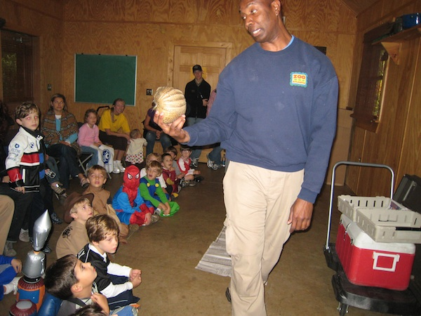Zoo Atlanta's birthday parties are fun - where they allow the children to learn about and touch some animals.