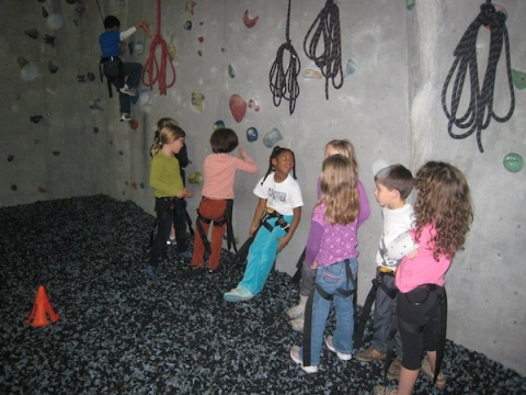 A fun spot for a birthday party for elementary-school-aged children: Atlanta Rocks.