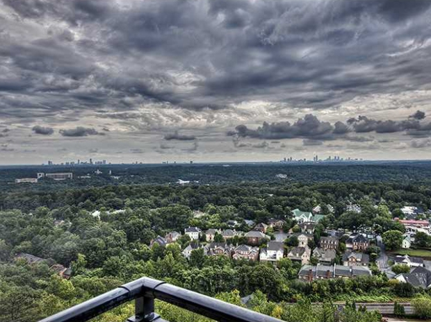 This condo at One Vinings Mountain has spectacular city views!