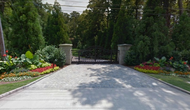 Here's another image from Google Earth of the front gates to this incredible compound in 30327.