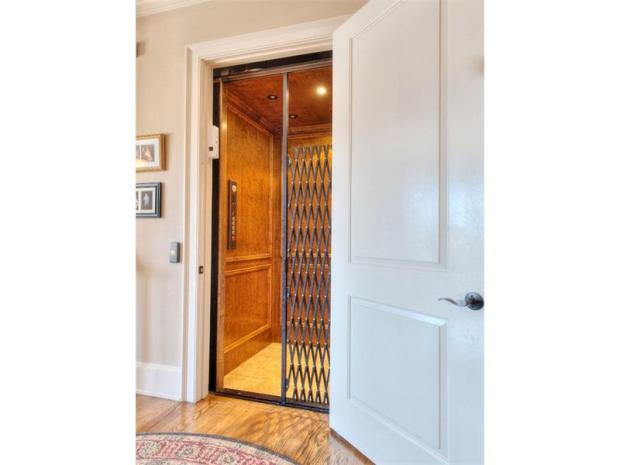 There are a lot of incredible rooms in this house with beautiful design  - and the easiest way to access them is through the elevator which serves all three levels.