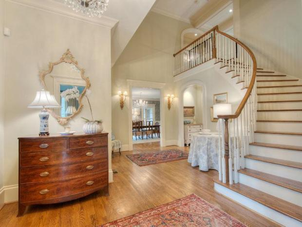 A beautiful entry way sets the stage for elegance and thoughtful design throughout this estate in Vinings. Click on the image for additional photos and information.