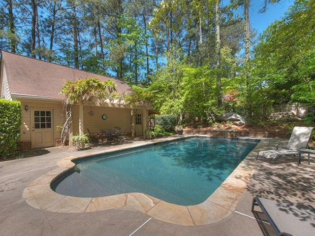 Beautiful PebbleTech saltwater pool.  Offered at $925,000 by Tina Hunsicker. Click on the image for additional information and more photos.