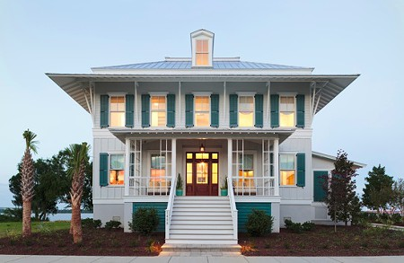 The beachfront, 4,000-plus square foot home features an open floor plan, extensive porches, a carriage house, and a private dock. A crew of top designers created the showhouse from the ground up.   PHOTO: Bill Bennett/Denman Bennett Images. CharlestonCityPaper.com
