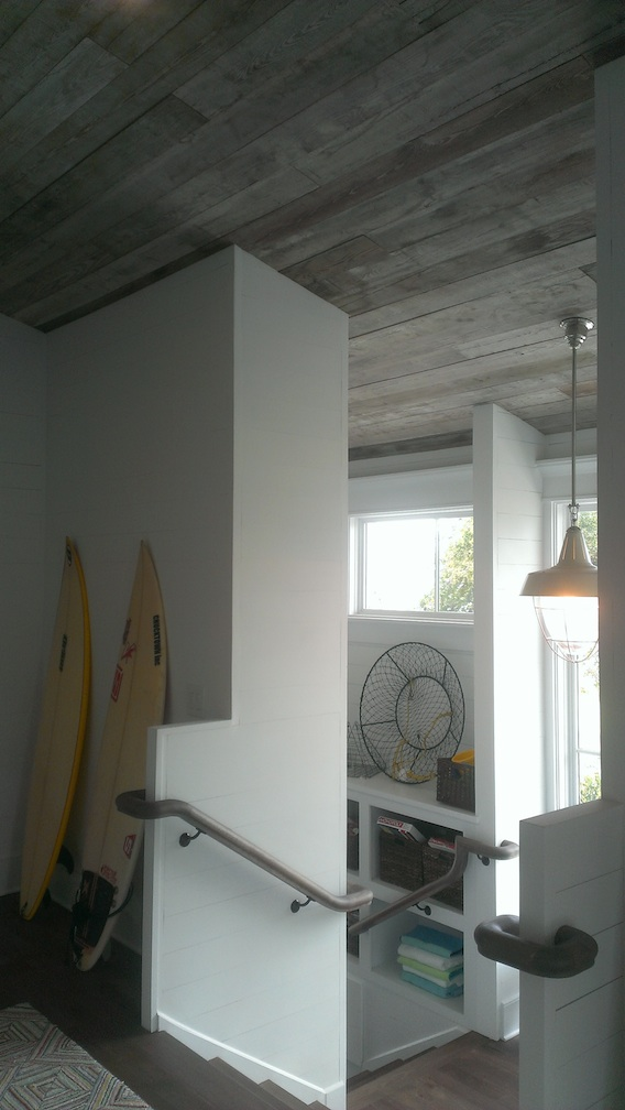 This is the area heading out the back door and also downstairs.  What great design!