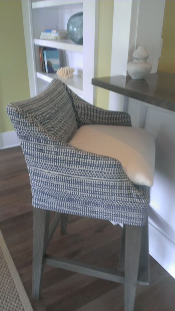 What a great slip cover on this bar stool!
