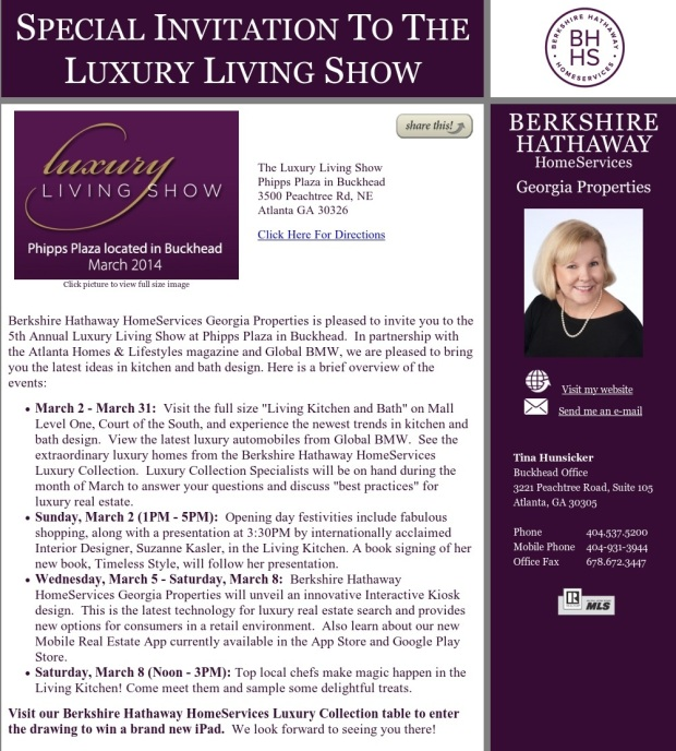 Luxury Living Show Announcement