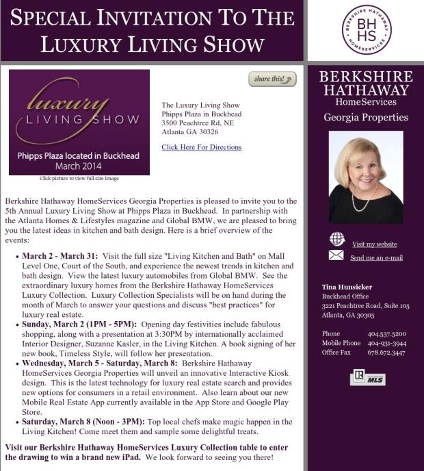 Luxury Living Show Announcement