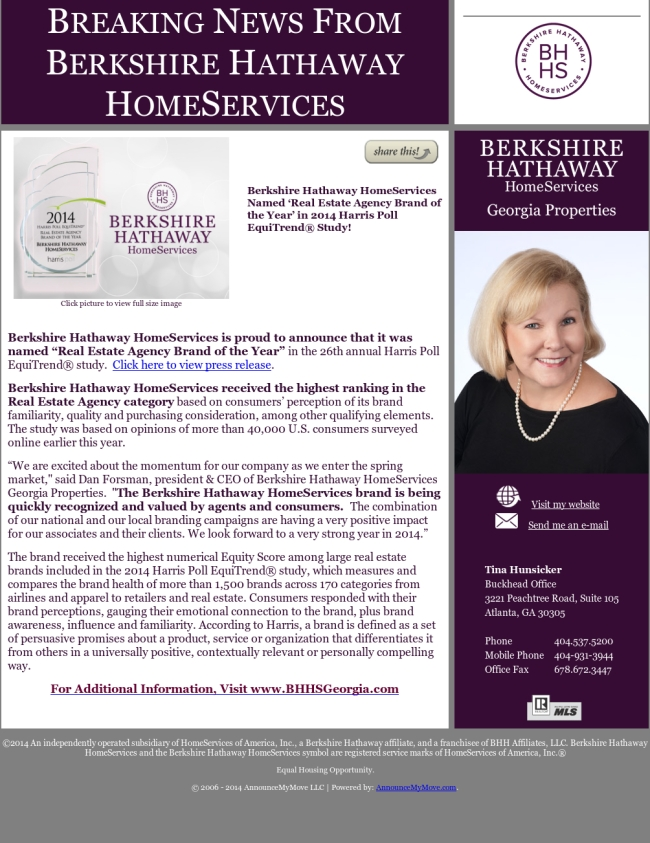 breaking news from berkshire hathaway homeservices real vinings