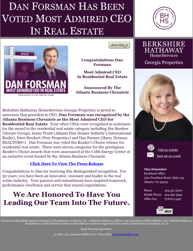 Dan Forsman Most Admired CEO in Real Estate