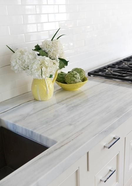 Beautiful counter surface options! photo credit: remodelista.com
