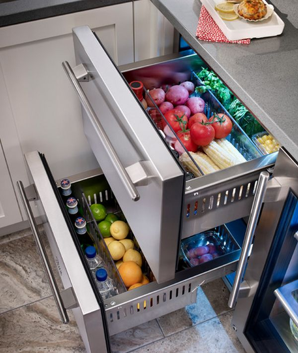 Drawer refrigerators are convenient and energy efficient photo credit: homeedit.com