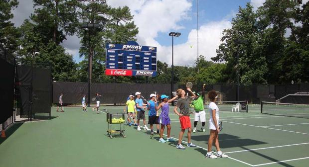 Emory University hosts tennis camps as well as a variety of other sports and science camps. photo credit: ussportscamps.com