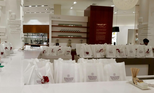 Goodie bags ready for guests